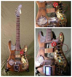 #Guitar, #Music, #RecycledArt, #Steampunk