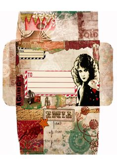 https://flic.kr/p/bRsdFF | TIME - Mail art | This is a 'digital collage' envelope I made for my first piece of mail art swapping. You can download this and print it. It's A4 International size - if you want the US one I can resize if your'e not sure how. Credits: Woman and brushes: Mine Various borders and layers: Crowabout StudioB, Beth Rimmer and Tumble Fish Studio from Deviant Scrap