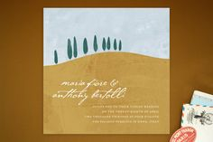 Tuscan Hill Wedding Invitations by Erin Pescetto at minted.com