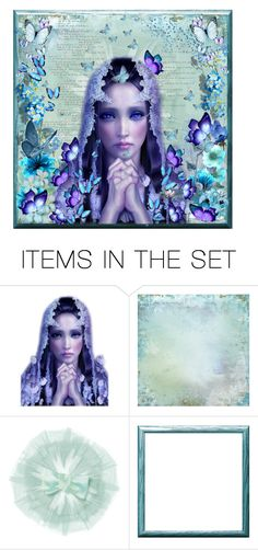 """""""Our Lady of the Butterflies"""" by kyckastra ❤ liked on Polyvore featuring art"""