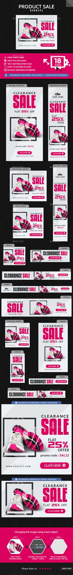 Product Sale Web Banners Template PSD. Download here: http://graphicriver.net/item/product-sale-banners/16048119?ref=ksioks