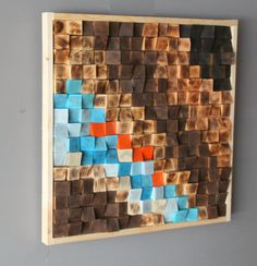 Rustic Wood wall Art Wood wall sculpture Reclaimed Wood