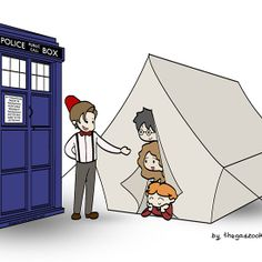 The TARDIS and the magical tent