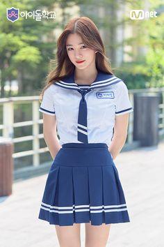 Girl in Uniform 😘 Korean Uniform School, School Uniform Outfits, School Uniforms, Malu Trevejo Outfits, Girl Outfits, Fashion Outfits, Kawai Japan, Korean Blouse, School Girl Japan