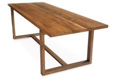 """Cresco 94"""" Dining Table, Natural"""
