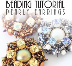 PEARLY EARRINGS TUTORIAL / pdf instant tutorial by Pikapolina