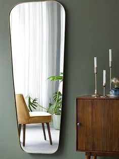 Frankly Fine's Favorites – Spiegels Mid Century Modern Mirror, Mid Century Modern Curtains, Mid Century Modern Living Room, Mid Century Modern Design, Living Room Mirrors, Living Room Grey, Decoration Inspiration, Interior Inspiration, Decor Ideas