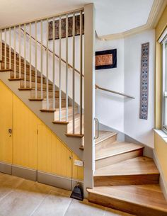The floor-to-ceiling bannister staircase