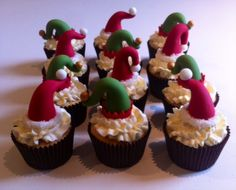 Christmas Hat Cupcakes