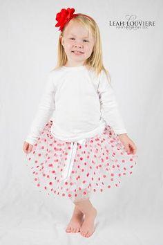 Little Girls White with Red Polka Dots Tutu Baby Tutus Ballet Dance Tutu Party Tutus Photography Tutu Infant Toddler Tutus for Girls by BabyGirlTutus on Etsy
