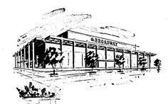 The Broadway - Topanga, Topanga Plaza, Canoga Park, CA (1964, SF: 170,000).  Topanga Plaza was the first enclosed shopping mall in California.