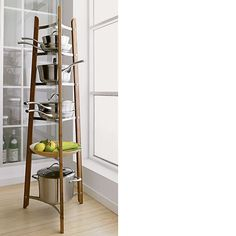 Bamboo Cookware stand, for small kitchens