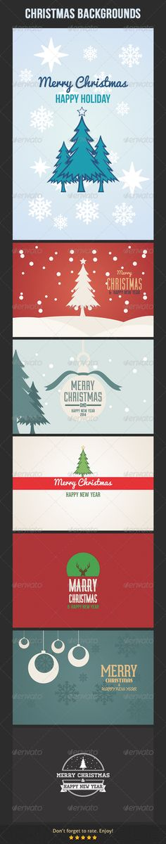 Christmas Backgrounds — Vector EPS #new year #design • Available here → https://graphicriver.net/item/christmas-backgrounds/6307860?ref=pxcr