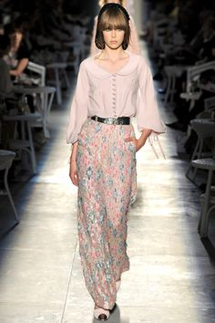Chanel Fall 2012 Couture    AHHH can't believe i touched the skirt at lesage when it was being made!!!
