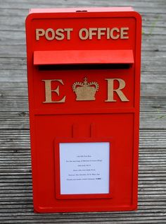 Freestanding Large wooden wedding post box by scratchycat on Etsy