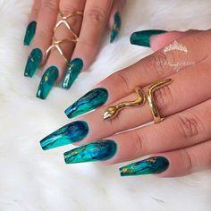 KHAYANDERSON - coffin #nails #nailscoffin #coffinnails