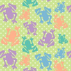 Polka Dot Frogs  fabric by fridabarlow on Spoonflower - custom fabric / wallpaper / decal / giftwrap