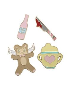 Melanie Martinez Sippy Cup Cry Baby Enamel Pin Set, , hi-res Cry Baby, Baby Crying Face, Melanie Martinez Carousel, Melanie Martinez Merch, Pin And Patches, Iron On Patches, Band Merch, Vinyl Figures, Babe