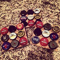 Beer bottle cap coasters
