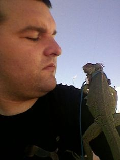 Mi iguana de chiga y mi cari