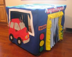 Car Wash Card Table Playhouse, Custom Order by missprettypretty on Etsy https://www.etsy.com/listing/118904830/car-wash-card-table-playhouse-custom