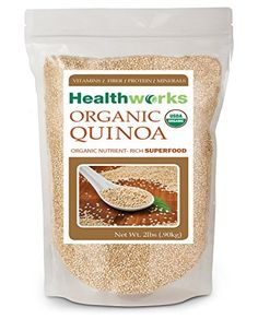 Healthworks Quinoa White Whole Grain Raw Organic 2lb *** Continue to the product at the image link. (Note:Amazon affiliate link)