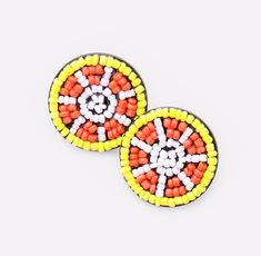 Theme : Fruits/Food Size : X Post Back Lead Compliant Seed Beaded Orange Stud Earrings Statement Earrings, Dangle Earrings, Heart Shaped Earrings, Circle Necklace, Instagram Shop, Beautiful Necklaces, Seed Beads, Heart Shapes, Dangles