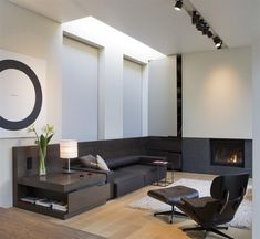 | DEN . GUEST BEDROOM | Image Credit: iXtra | Living - framing a seating area with custom built in millwork, colour palette #