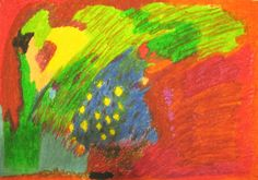 Dreaming of starry night  Nov 09, Crayons on Paper
