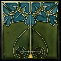 I love art nouveau tiles. There's got to be a way to use this...
