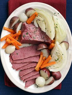 Perfect for St. Patrick's Day #dinner—or any night—slow-cooker Corned Beef & Cabbage takes just 15 minutes to prepare. #myplate http://www.parents.com/recipes/cooking/family-favorites/slow-cooker-solutions/?socsrc=pmmpin130218slocoCornedBeef#page=7