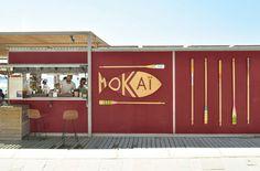 Chiringuito Mokai en La Barceloneta diseño de PPT Interiorismo