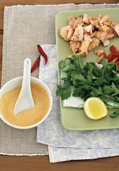 salmon tacos ingredients by Heidi Leon Monges, via Flickr