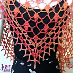 Fall Sparkles Shawl - free crochet pattern by Jessie At Home - 7