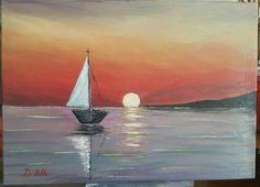 Sanset acrylic painting 06/12/2015 #art #painting Painting, Art, Dibujo, Boats, Pintura, Craft Art, Painting Art, Kunst, Paint