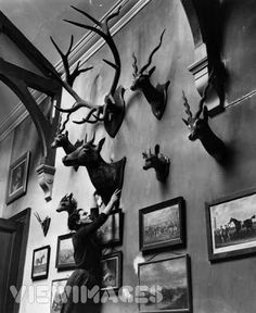 Hunting decoration Black and white