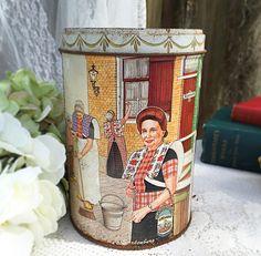 Vintage Dutch Tin RARE davelaar jodenkoeken alkmaar cookie Candy tea confections storage box Holland Netherlands amsterdam barrel by WonderCabinetArts