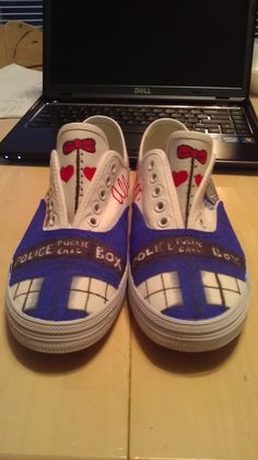 Doctor Who Shoes I made for my friend's birthday! - Album on Imgur