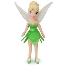 Let your little pixie fly into her imagination with this Tinker Bell plush doll from the world of Disney Fairies. This adorable plush Tinker Bell plush is 12 in
