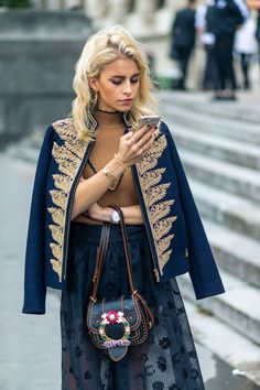 Caroline Daur Street Style from Paris Fashion Week SS 2017