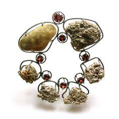 """Joanna Gollberg Stirling - """"pebbles"""" (rocks) brooch"""