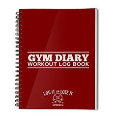 Gym Diary - pocket log book with tough, clear plastic covers... (Red)