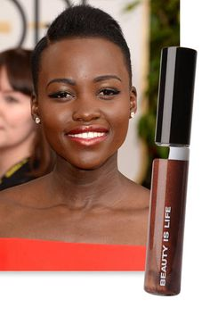 Beauty trend: Dark glossy lips, as seen on Lupita Nyong'o
