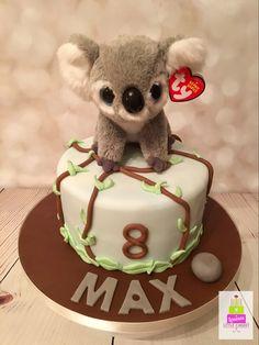 Beanie boo koala cake