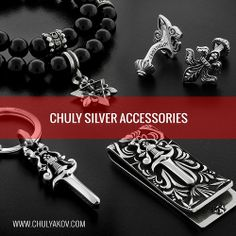 CHULY ACCESSORIES  Shop online: www.chulyakov.com   #chuly #chulyakovnewyork #chulyakov #designer #designerjewelry #designeraccesories #gothicjewelry #bikerjewelry #style #fashion #silver #blackdiamonds #jewelry #hiphop #hiphopjewelry #rock #rockjewelry #rocknroll #americandesigner #cross #starofdavid #heart #poniard #dagger #dogtag #bling #madeinusa