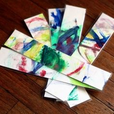 Beautiful bookmarks made with your little one's masterpieces. This simple DIY makes a great gift.