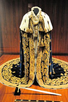 Coronation Mantle of the Kingdom of Lombardy-Venetia, Italy (1838; velvet, white moire, gold and silver embroidery, ermine, lace).