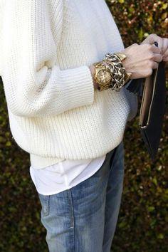 Stacks of wrist wear.