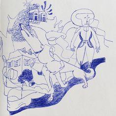 #dog #doodle #drawing #sketch #sketchbook #illustration #illustrator #pen #line #tatsurokiuchi #blue #life #love #happy #tokyo #japan