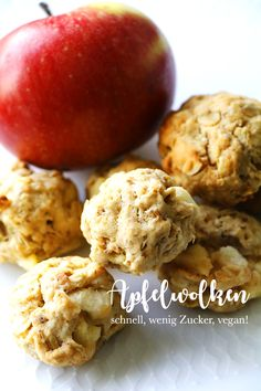 Apple oat cookies - Autumn biscuits made from apple, oatmeal and spelled flour - Healthy Juice Recipes, Baby Puree Recipes, Healthy Juices, Baby Food Recipes, Smoothie Recipes, Sweet Recipes, Healthy Snacks, Flour Recipes, Stay Healthy